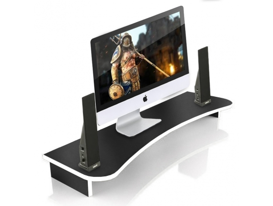 Подставка для монитора ZEUS Сфера-1400, черно-белый