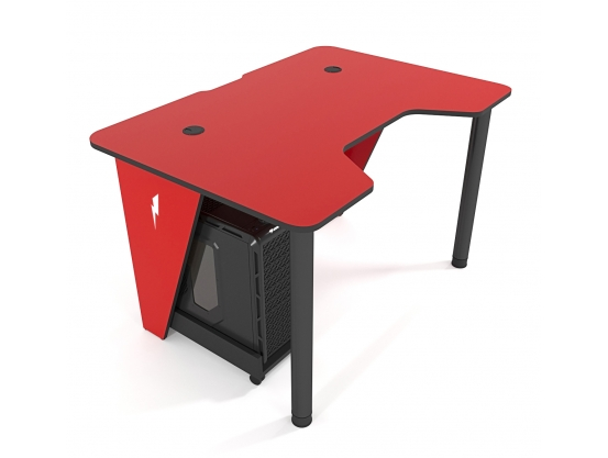 Геймерский игровой стол ZEUS™ IVAR-1200, красный/черный