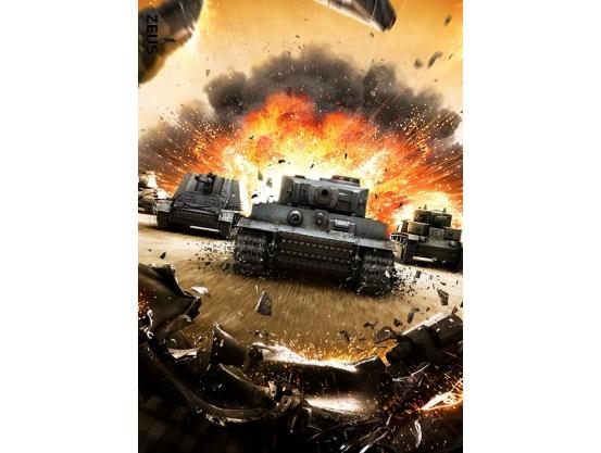 Фотообои для геймерской комнаты, Tanks, 184x254