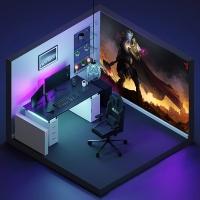 Фотообои для геймерской комнаты, Warcraft, 368x254