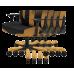 Кресло для геймеров DXRACER BOSS OH/BF120/NW (чёрное/белые вставки) Vinil кожа, Al основа
