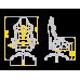 Кресло для геймеров HATOR Hypersport Air (HTC-942) Black/Orange