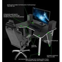 Геймерский игровой стол ZEUS™ IGROK-3, черный/белый