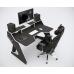 Геймерский игровой стол IGROK-TIM черный/белый ZEUS™