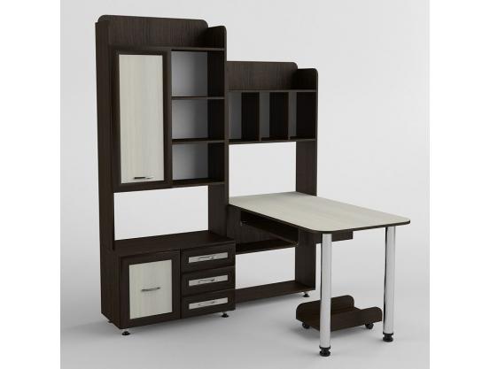 Угловой компьютерный стол Тиса СК-217 Венге магия- Дуб молочный