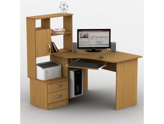Компьютерный стол угловой Тиса Эксклюзив-1 Ольха горная
