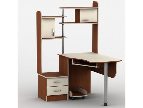 Компьютерный стол угловой Тиса-10 Яблоня локарно-Ваниль