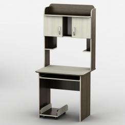 Компьютерный стол с надстройкой Тиса-15 Венге магия - Дуб молочный