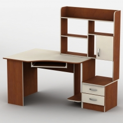 Компьютерный стол с надстройкой Тиса Эксклюзив-2 Яблоня локарно-Ваниль