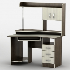 Компьютерный стол с надстройкой Тиса-21 Венге магия - Дуб молочный