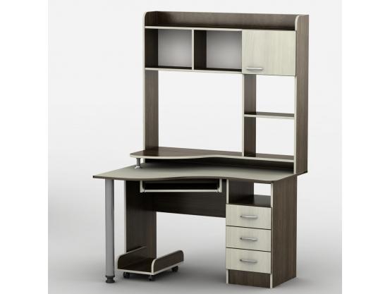 Компьютерный стол с полкой Тиса Юниор-22 Венге магия - Дуб молочный