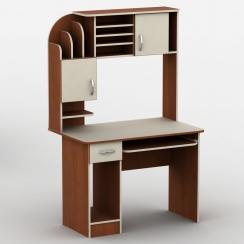 Компьютерный стол с надстройкой Тиса-26 Яблоня локарно-Ваниль