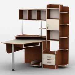 Компьютерный стол с надстройкой Тиса-3 Яблоня локарно-Ваниль