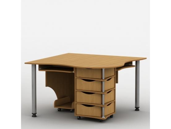 Компьютерный стол Тиса-4 Ольха горная