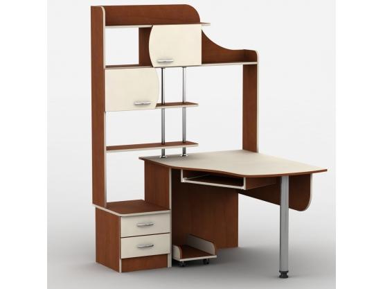 Угловой компьютерный стол Тиса-6 Яблоня локарно-Ваниль