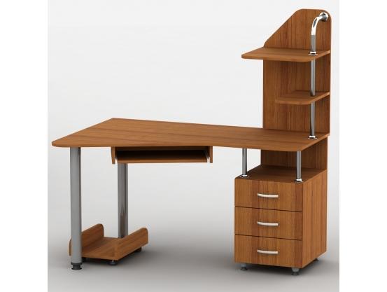 Компьютерный стол с полками Тиса Эксклюзив-7 Орех лесной
