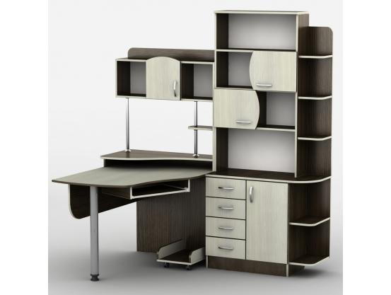 Компьютерный стол угловой Тиса Эксклюзив-8 Венге магия - Дуб молочный