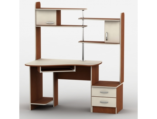 Компьютерный стол с надстройкой Тиса-9 Яблоня локарно-Ваниль