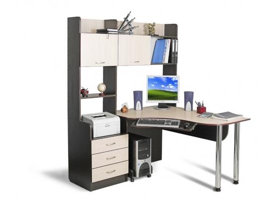 Угловой компьютерный стол Тиса СК-12 Венге магия - Дуб молочный