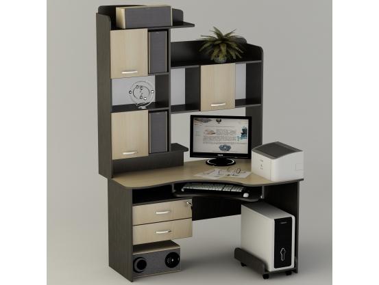 Угловой компьютерный стол Тиса СК-19 Венге магия - Дуб молочный