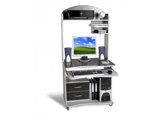 Компьютерный стол Тиса СК-1 Алюминий-Венге магия
