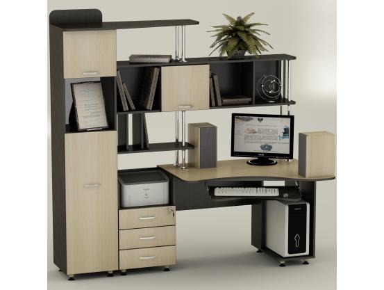 Компьютерный стол угловой Тиса СК-20 Венге магия - Дуб молочный