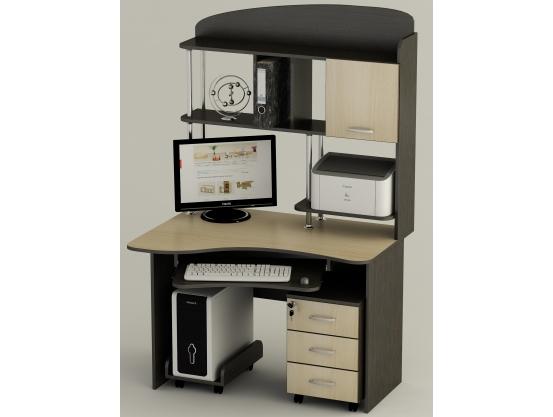 Компьютерный стол Тиса СК-21 Венге магия - Дуб молочный