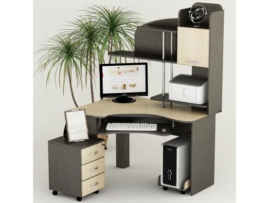 Компьютерный стол угловой Тиса СК-23 Венге магия - Дуб молочный