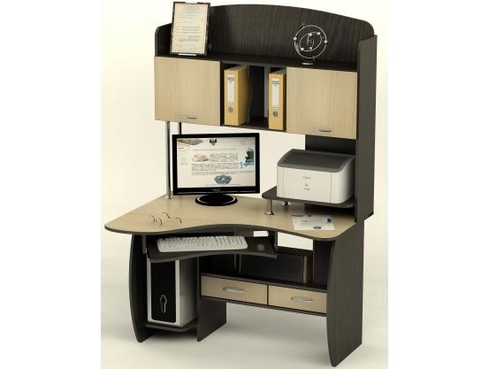 Компьютерный стол угловой Тиса СК-24 Венге магия - Дуб молочный