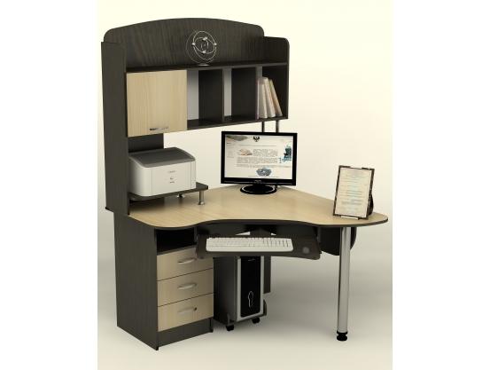 Компьютерный стол угловой Тиса СК-26 Венге магия - Дуб молочный