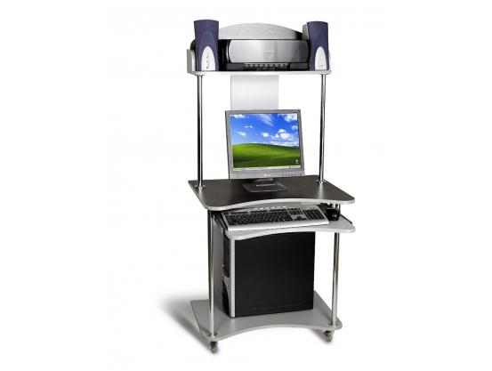 Компьютерный стол Тиса СК-4 Алюминий-Венге магия