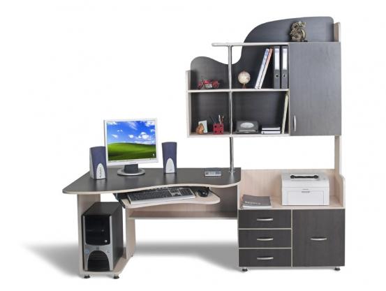 Компьютерный стол Тиса СК-6 Дуб молочнный-Венге магия