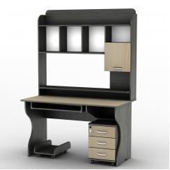 Компьютерный стол с надстройкой Тиса СУ-10 Венге магия - Дуб молочный