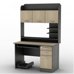 Компьютерный стол с полками Тиса СУ-12 Венге магия - Дуб молочный