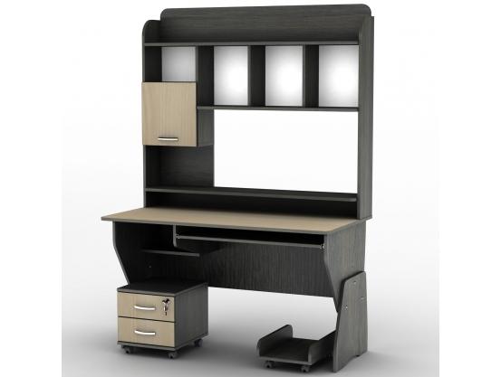 Компьютерный стол с полкой Тиса СУ-24 Олимп Венге магия - Дуб молочный