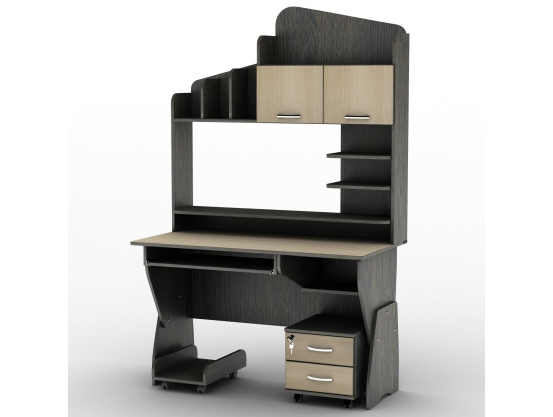 Компьютерный стол с полками Тиса СУ-26 Оптима Венге магия - Дуб молочный