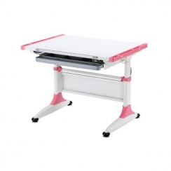 Парта-трансформер CARDIFF CABINET, серый-розовый