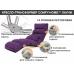 Кресло-трансформер Comfy-Home™ Лаунж, фиолетовый . Эргономичные раскладные кресла по доступной цене. Доставка по всей Украине .