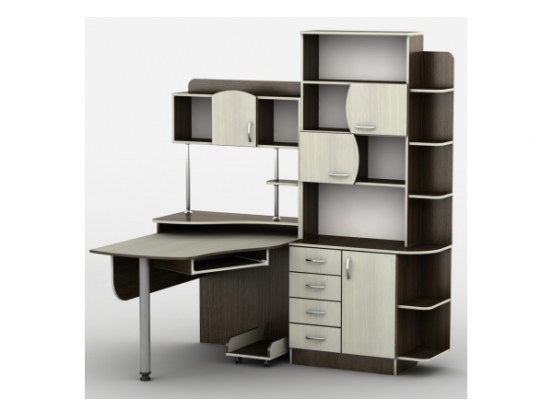 Компьютерный стол Тиса Т-8 Венге/Дуб молочный