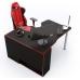 Геймерский угловой стол IGROK-TOR, черный/красный ZEUS™