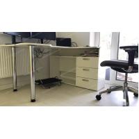 Геймерский угловой стол  IGROK-TOR, белый/белый ZEUS™
