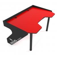 Геймерский эргономичный стол ZEUS™ GEROY, красно-черный