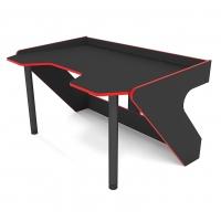 Геймерский эргономичный стол ZEUS™ GEROY, черно-красный