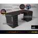 Геймерский эргономичный стол ZEUS™ Viking-1М, 180х85 (80) см, черный/белый