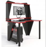 Геймерский игровой стол ZEUS™ IVAR-2 (1200мм), черный / красный