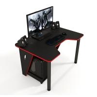 Геймерский игровой стол ZEUS™ IVAR-1400, черный/красный