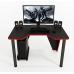 Геймерский игровой стол ZEUS™ IVAR-1200, черный/красный