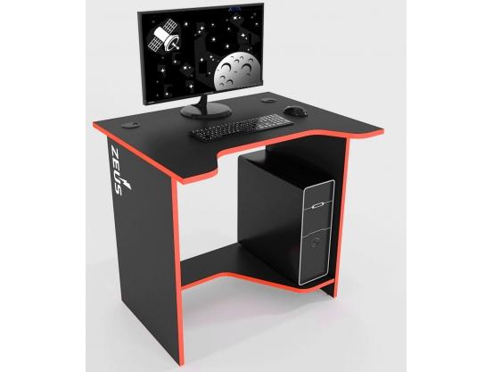 Стол геймерский ZEUS™ Sputnik, черный-красный