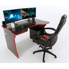 Стол письменный TRON Stalker черный-красный
