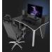 Игровой геймерский стол ZEUS™ ZET-3, черный/белый